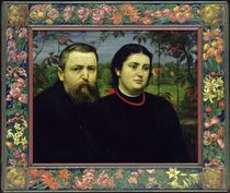 The Artist with his Wife Bonicella by Hans Thoma