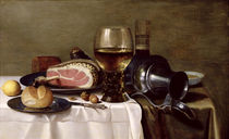 Still Life with Ham  von Pieter Claesz