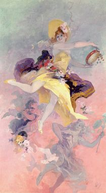 'Dancer with a Basque Tambourine ' by Jules Cheret