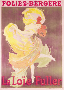 Poster advertising Loie Fuller  by Jules Cheret