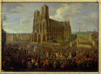 The procession of King Louis XV  by Pierre-Denis Martin