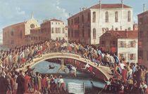 Battle with Sticks on the Ponte Santa Fosca by Gabriele Bella