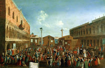 Charlatans in the Piazzetta San Marco von Gabriele Bella