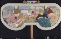 Three Women Working  by Theophile Alexandre Steinlen