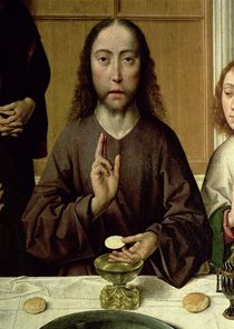 Christ Blessing by Dirck Bouts