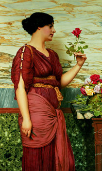 A red by John William Godward