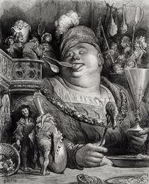 Pantagruel's meal von Gustave Dore