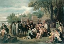 William Penn's Treaty with the Indians in November 1683 by Benjamin West