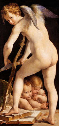 Cupid Carving a Bow by Parmigianino