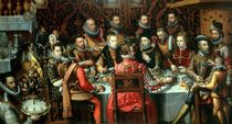 The Banquet of the Monarchs von Alonso Sanchez Coello