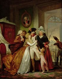 The Departure of the Volunteers  von Francois Louis Joseph Watteau