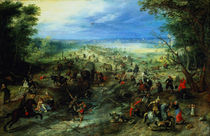 Raid on a caravan of wagons by Jan Brueghel