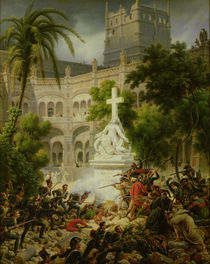 Assault on the Monastery of San Engracio in Zaragoza von Louis Lejeune