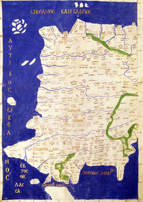 Map of Spain and Portugal by Ptolemy