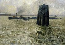 The Port of Hamburg von Leopold Karl Walter von Kalckreuth