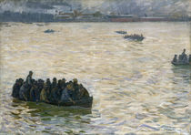 Shipyard Workers Returning Home on the Elbe von Leopold Karl Walter von Kalckreuth