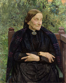 Lichtwark's Mother by Leopold Karl Walter von Kalckreuth