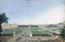 View of the Place Louis XV and the Jardin des Tuileries von Henri Courvoisier-Voisin