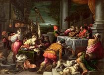The Rich Man and Lazarus von Leandro da Ponte Bassano