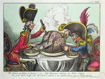 The Plum Pudding in Danger by James Gillray
