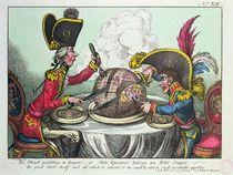 The Plum Pudding in Danger von James Gillray