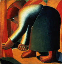 Woman Cutting by Kazimir Severinovich Malevich