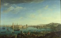 The Entrance to the Port of Marseilles by Claude Joseph Vernet