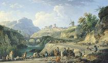 The Construction of a Road von Claude Joseph Vernet