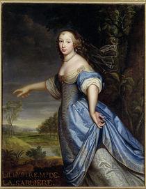 Portrait of Madame de la Sabliere  by Pierre Mignard