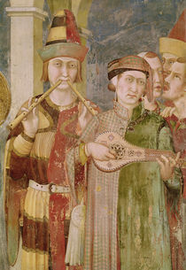 Detail of musicians from the Life of St. Martin by Simone Martini