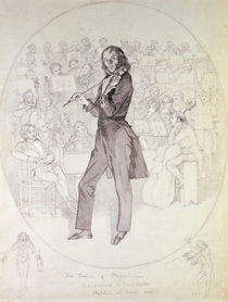 Niccolo Paganini  von Daniel Maclise