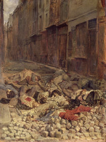 Barricade in the Rue de la Mortellerie by Jean-Louis Ernest Meissonier