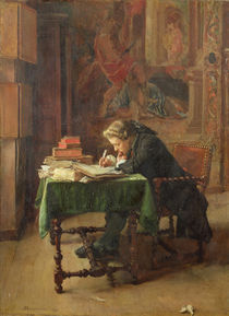Young Man Writing by Jean-Louis Ernest Meissonier