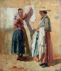 Washerwomen in Antibes von Jean-Louis Ernest Meissonier