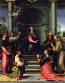 The Annunciation with Saints von Fra Bartolommeo