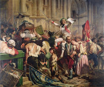 The Conquerors of the Bastille before the Hotel de Ville in 1789 von Hippolyte Delaroche