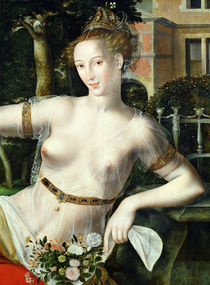Detail of Flora by Jan Massys or Metsys