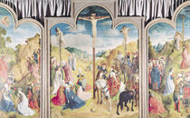 Triptych of the Crucifixion  by Joos van Gent