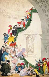 The Exhibition Stare Case by Thomas Rowlandson