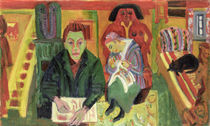 The Living Room by Ernst Ludwig Kirchner
