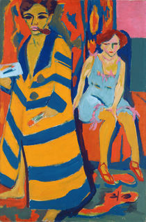 Self Portrait with a Model by Ernst Ludwig Kirchner