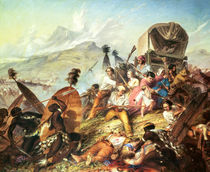 The Battle of Blauwkrantz by Thomas Baines