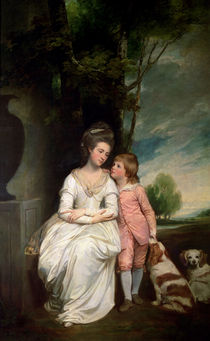 The Countess of Albemarle and her son  von George Romney