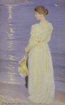 Woman in White on a Beach von Peder Severin Kroyer
