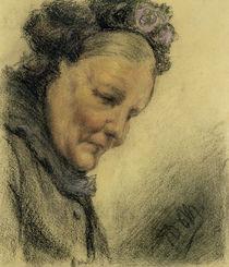 Head of an Old Lady  von Adolph Friedrich Erdmann von Menzel