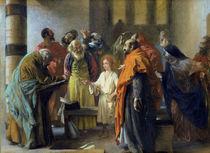 Twelve-year old Jesus in the Temple von Adolph Friedrich Erdmann von Menzel