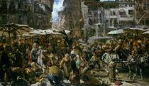 The Market of Verona von Adolph Friedrich Erdmann von Menzel
