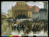 Victims of the March Revolution in Berlin Lying in State von Adolph Friedrich Erdmann von Menzel
