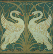 "Wallpaper Design for panel of ""Swan by Walter Crane"
