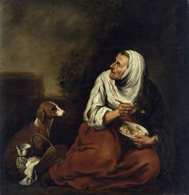 Old Woman with Dog  by Bartolome Esteban Murillo